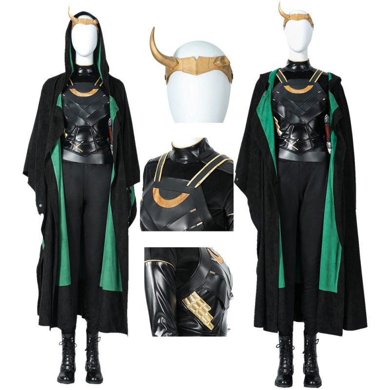 Lady Loki Cosplay Costume